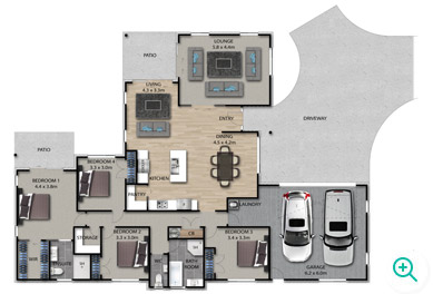 Palace Developments Wainui House floor plan